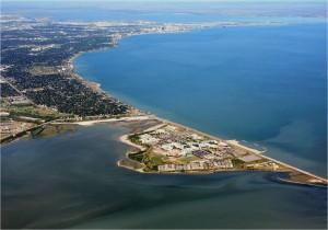 Aerial view of Corpus Christi - USVA Realty